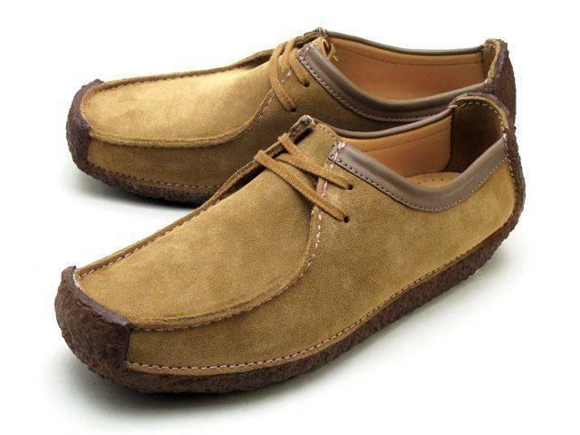 Clarks Natalie Oakwood Suede Moccasin Shoes for Men-10
