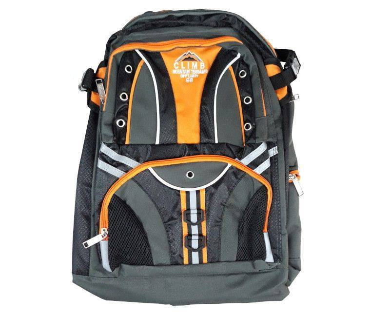 Climb Black and Orange School Bag with Workbook Sleeve