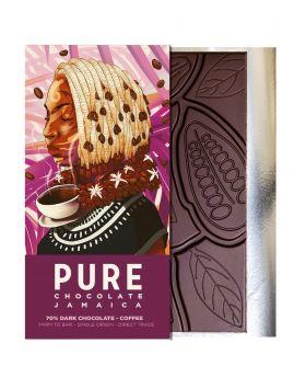 PURE 70% Dark Chocolate with Coffee 1.76 oz/50 Grams Each