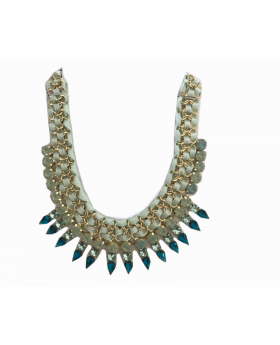Collar Statement Necklace in Ocean Tones