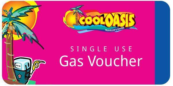 Cool Oasis Single Use Gas Voucher