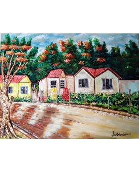 Country House Painting By Andy Ballentine