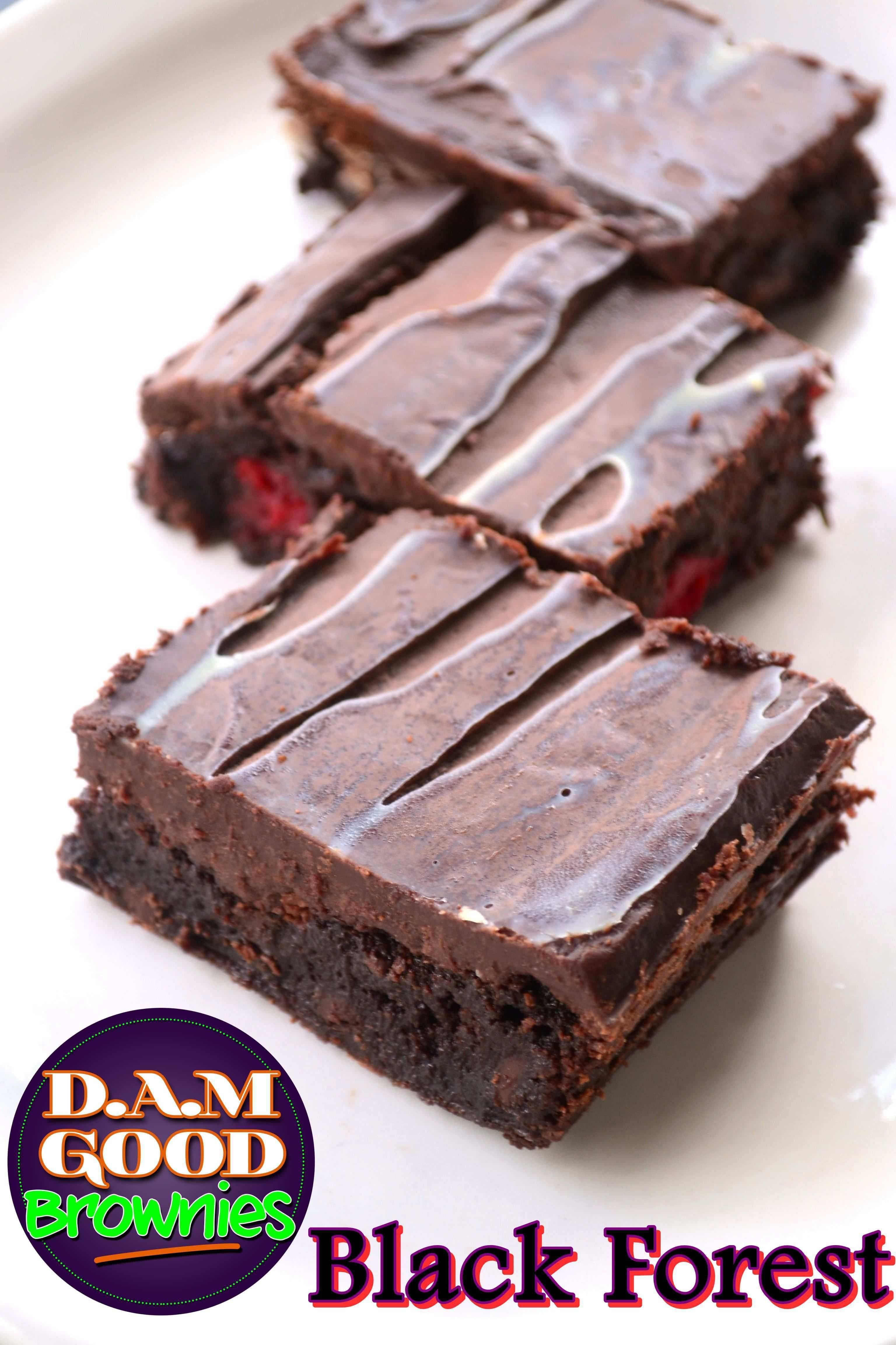 DAMGood Black Forest Brownies - 6pk