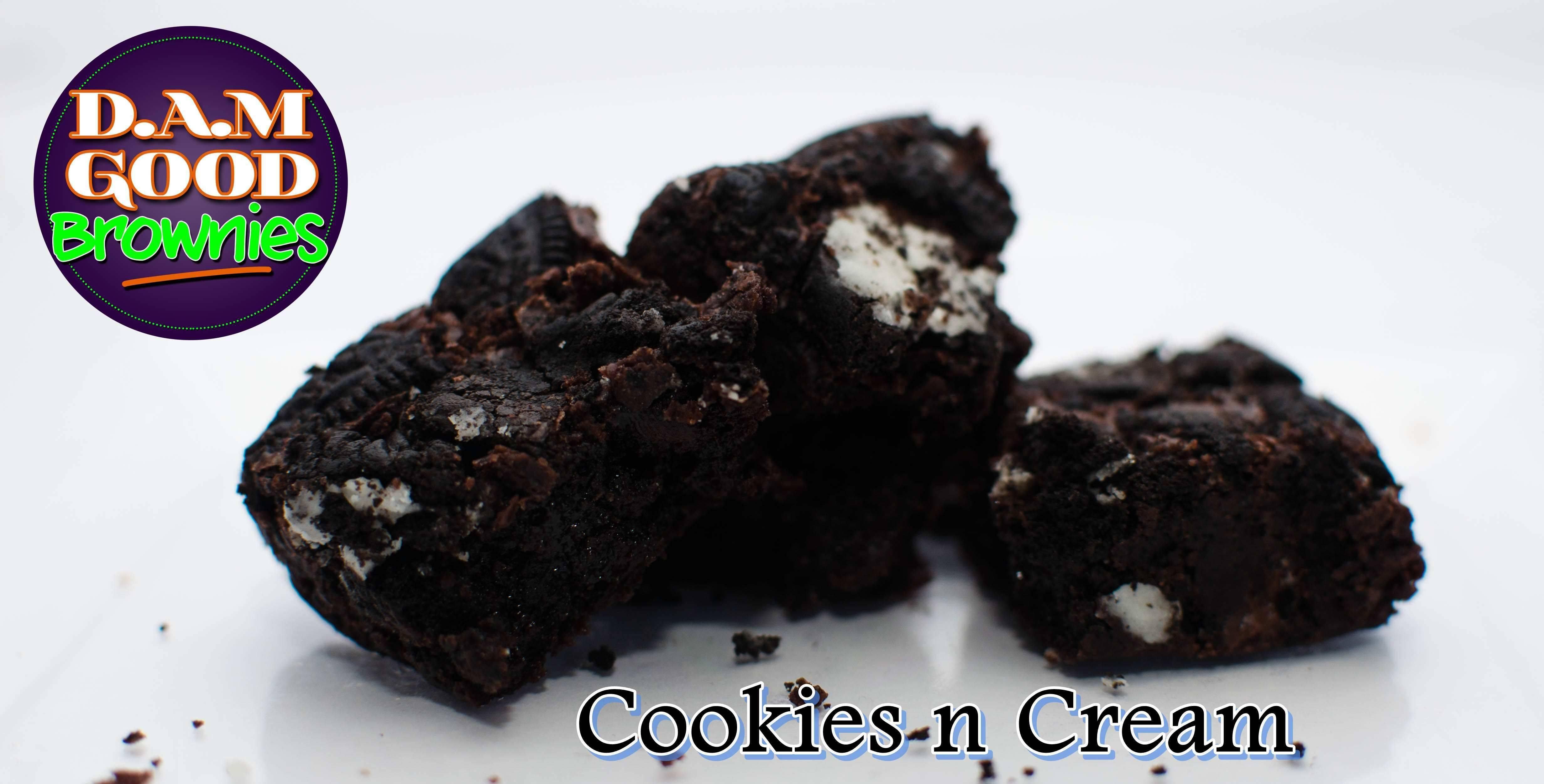 DAMGood Cookies N Cream Brownies - 6pk