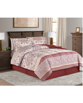 Delaney Reversible 8 Piece King Comforter Set