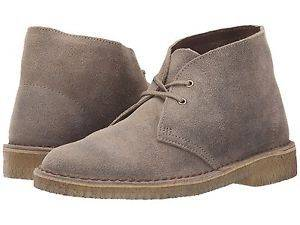 Clarks Desert Boot for men in Taupe Suede -10.5