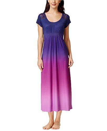 Alfani Dip-Dye Women's Nightgown (Small, Iris Dip Dye) - UPC 768594015267