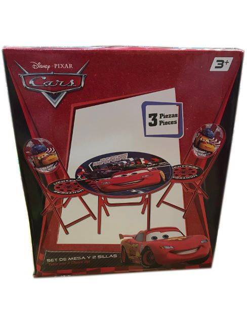 Disney Pixar Cars 3 Piece Table and Chair Set Ages 3+