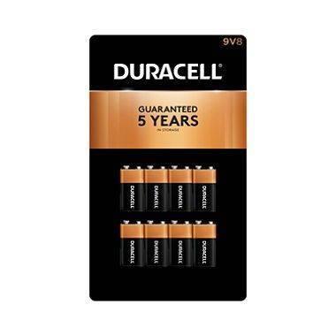 Duracell Coppertop Alkaline Batteries 9V, 8pk