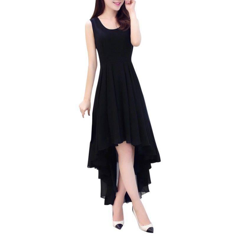 Elegant Women Sleeveless Boho Chiffon Dress