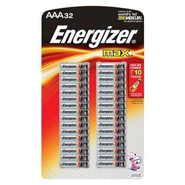Energizer AAA batteries, 32ct.