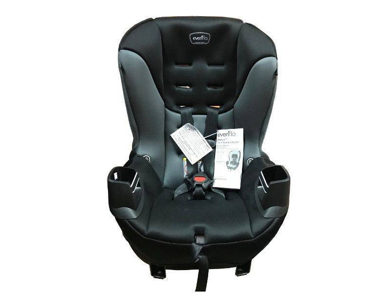Evenflo Sonus Carseat for infant and child use rear and forward facing child safety.
