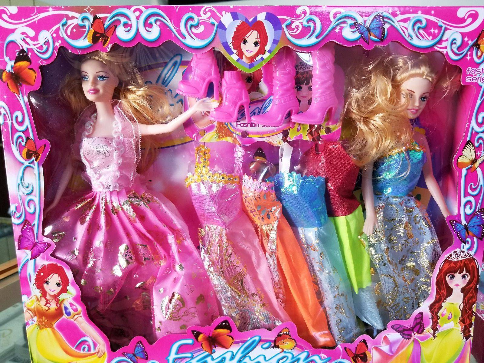 Fashion Series 2 Dolls with Multi Dresses & Accessories