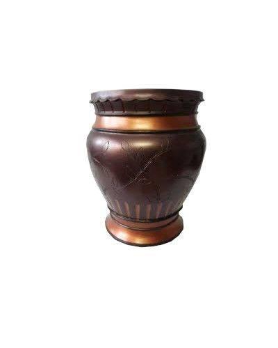 Floral Carving Wooden Vase