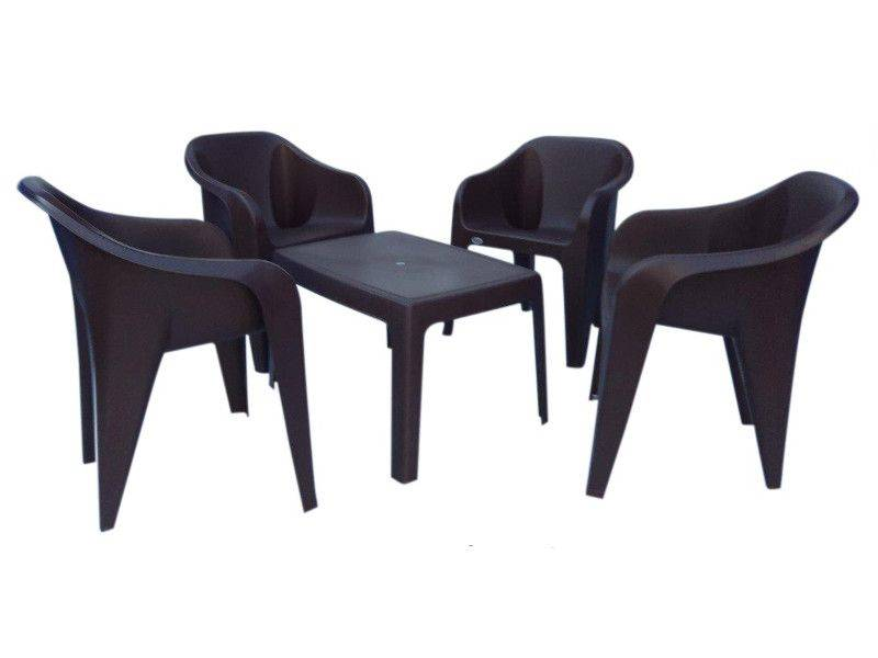 Outdoor 5 piece set; 1 table with 4 chairs