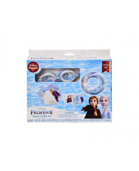 Frozen2 - 5 Piece Swim Set: Goggles, Swim Ring, Beach Ball & Two Arm Floats