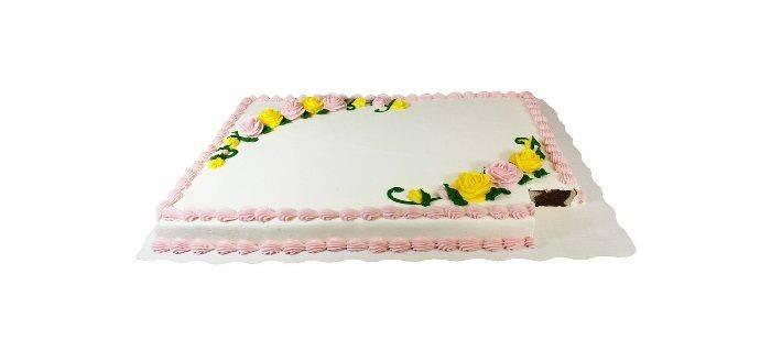 Full Sheet Yellow Choc-Vanilla Cake