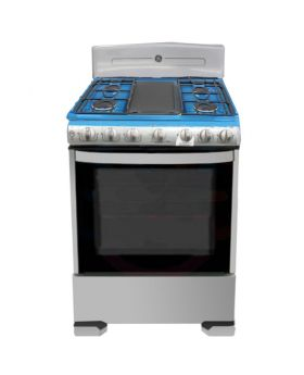 "G.E. 30"" Heavy Grill 6 Burner Stainless Steel Stove"