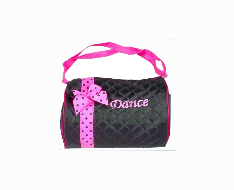 Girl's Dance Duffle Bag with Polka Dot Ribbon