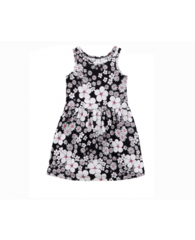 Girl's Flower Pattern Dress