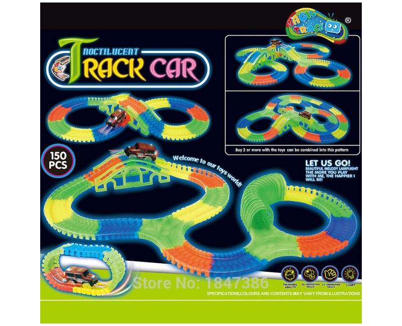 Glowing Track Car