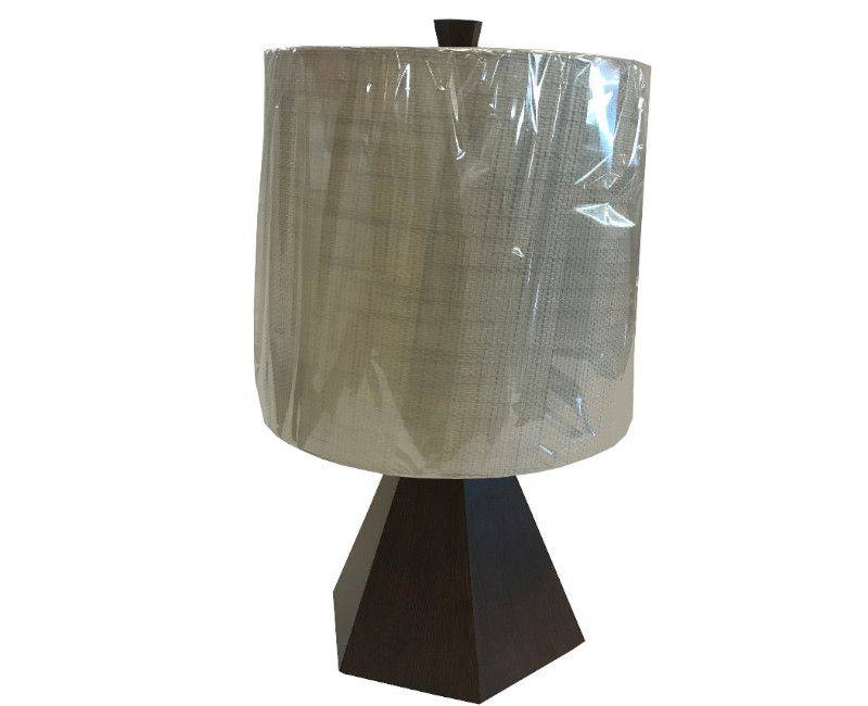Grayson Table Lamp - Wooden Base with Ivory Shade