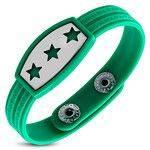 Green Greek Key Star