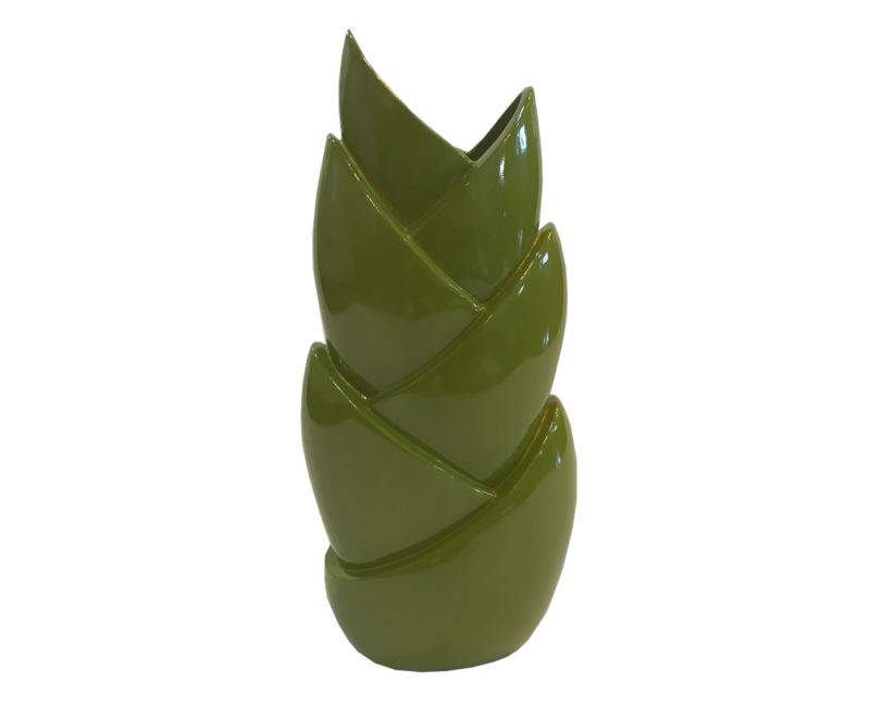 Green Decorative Layered Vase