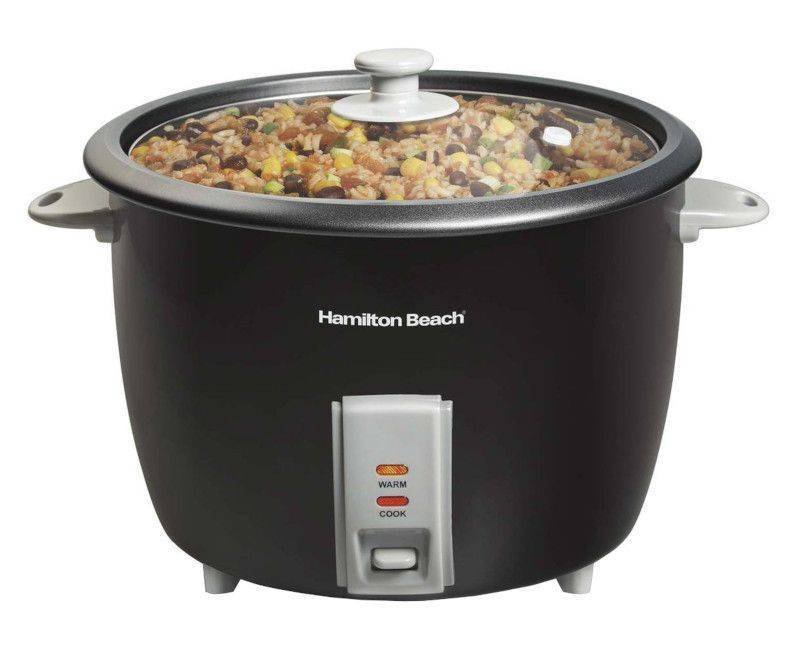 Hamilton Beach 30-Cups Black Rice Cooker 37550