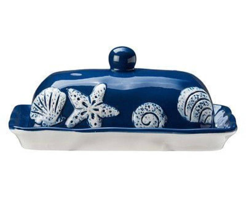 Ceramic Butter Dish-Navy