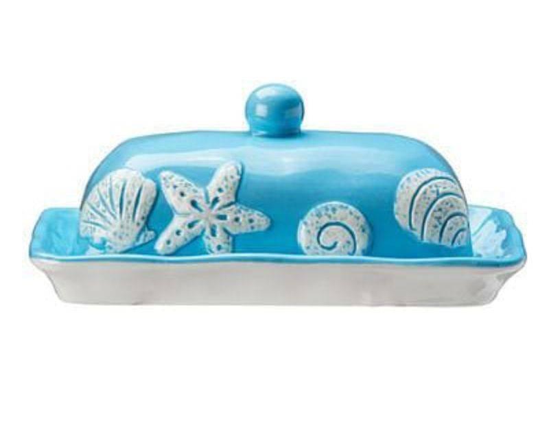 Ceramic Butter Dish-Aqua