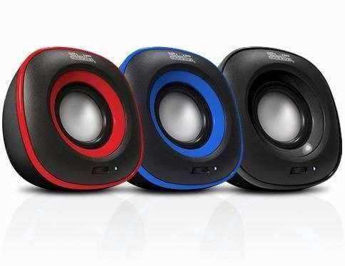 KlipX speaker 2.0 KES-215R 6W USB Power 3.5mmPlug Red