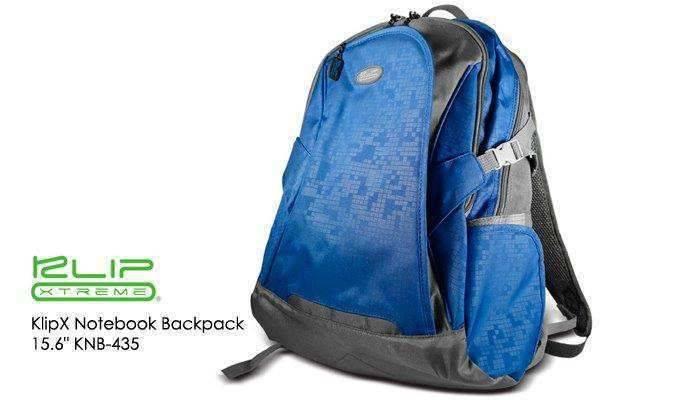 "KlipX Notebook Backpack - 15.6"" KNB-435BL Blue"