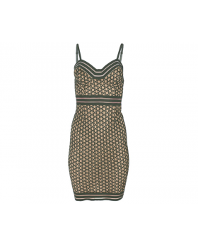 Lace Detail Bodycon Dress Size: 12 Front View