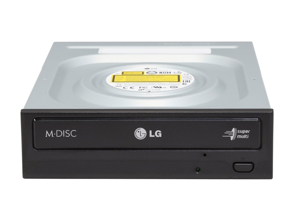 Front view of the LG GH24NSC0 Disk Drive DVD+RW (+R DL) / DVD-RAM