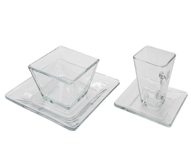 Libbey 16 Piece Tempo Glass Dinnerware Set