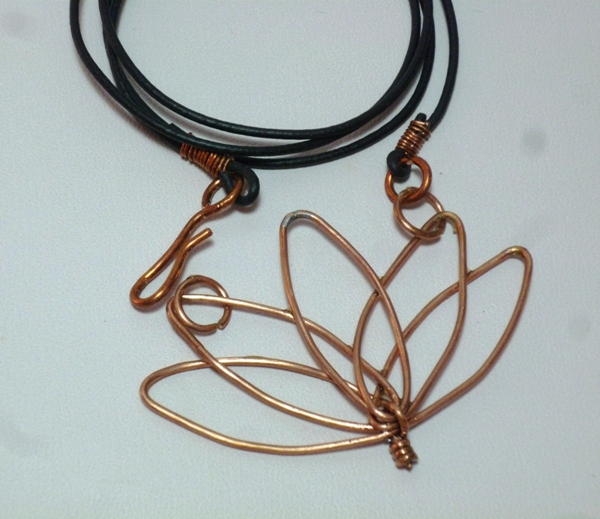 Lotus Flower Copper Pendant