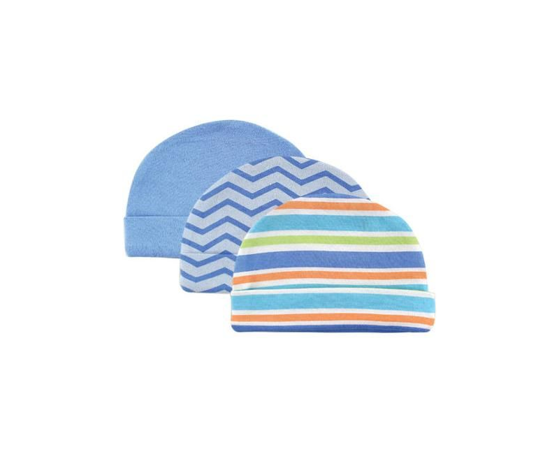 Luvable Friends 3 Pack Baby Caps