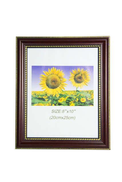 Front-view-of-Maranello-8x10-Brown-Plastic-Photo-Frame