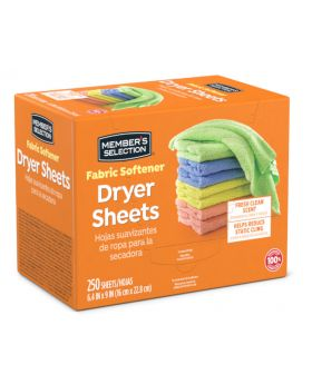 Member's Selection Fabric Softener Dryer Sheets 250
