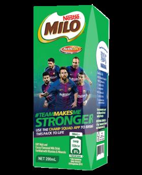 MILO Activ-Go Chocolate Malt Ready to Drink 200ml Carton
