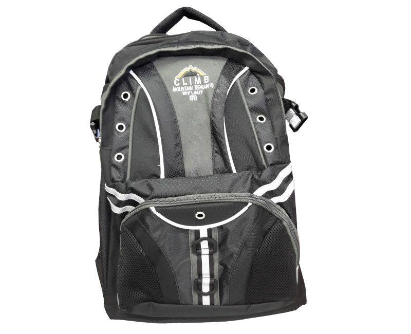 Climb Black and Grey School Bag with Workbook Sleeve