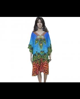 Multipurpose Multicoloured Coverup Dresses