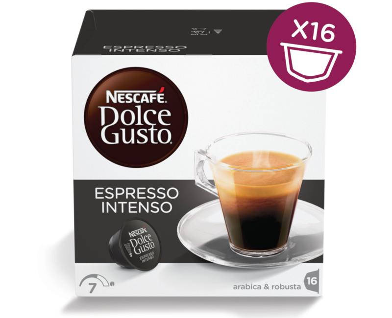 NESCAFÉ Dolce Gusto Espresso Intenso Coffee 16 Capsules Per Box