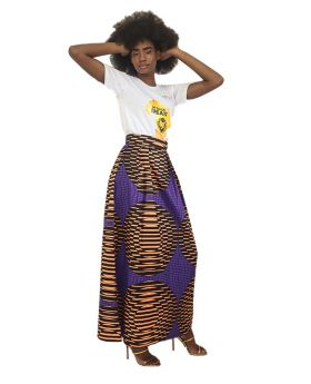 Rhizo Grit Collections African Print Maxi Skirt