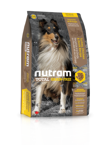 T23 Nutram Total Grain-Free Turkey Chicken and Duck Natural Dog Food 13.6kg