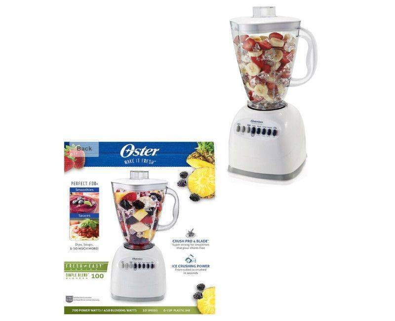 OSTER 10-Speed Blender with Plastic Jar