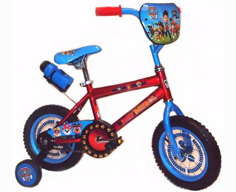 "Paw patrol 12"" bicycle with training wheels"