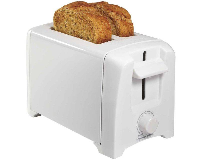 Proctor Silex White 2 Slice Toaster