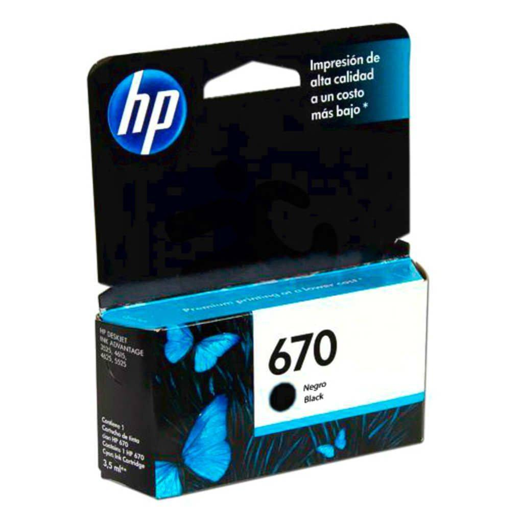 HPc CZ113AL 670 Black Ink Cartridge 250 pages